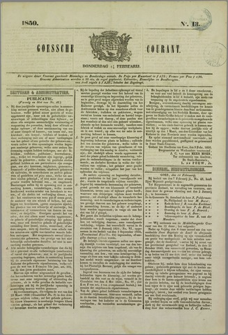 Goessche Courant 1850-02-14