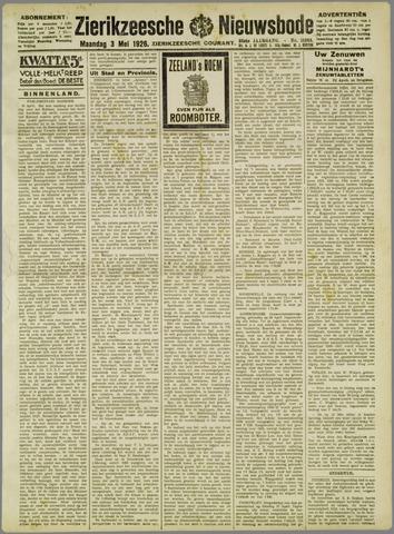Zierikzeesche Nieuwsbode 1926-05-03