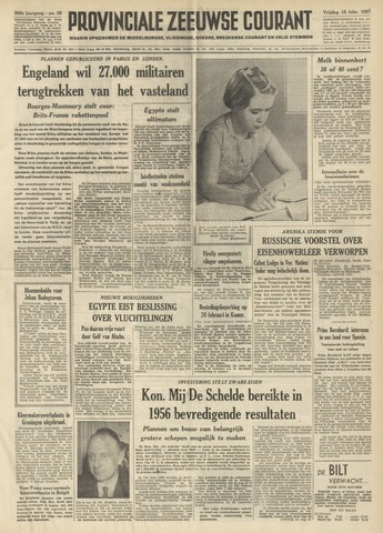 Provinciale Zeeuwse Courant 1957-02-15