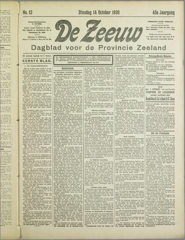 De Zeeuw. Christelijk-historisch nieuwsblad voor Zeeland 1930-10-14