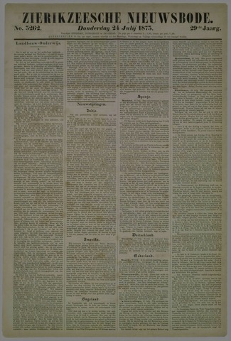 Zierikzeesche Nieuwsbode 1873-07-24