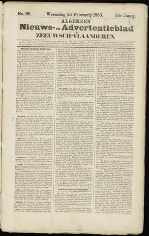 Ter Neuzensche Courant. Algemeen Nieuws- en Advertentieblad voor Zeeuwsch-Vlaanderen / Neuzensche Courant ... (idem) / (Algemeen) nieuws en advertentieblad voor Zeeuwsch-Vlaanderen 1863-02-25