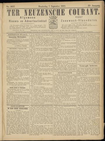 Ter Neuzensche Courant. Algemeen Nieuws- en Advertentieblad voor Zeeuwsch-Vlaanderen / Neuzensche Courant ... (idem) / (Algemeen) nieuws en advertentieblad voor Zeeuwsch-Vlaanderen 1911-09-07