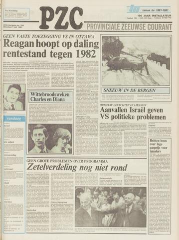 Provinciale Zeeuwse Courant 1981-07-21