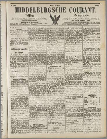 Middelburgsche Courant 1903-09-25
