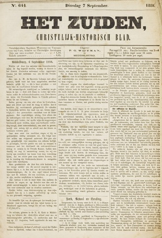 Het Zuiden, Christelijk-historisch blad 1880-09-07