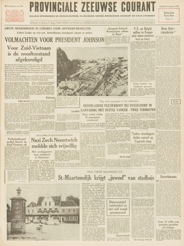 Provinciale Zeeuwse Courant 1964-08-08