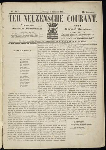 Ter Neuzensche Courant. Algemeen Nieuws- en Advertentieblad voor Zeeuwsch-Vlaanderen / Neuzensche Courant ... (idem) / (Algemeen) nieuws en advertentieblad voor Zeeuwsch-Vlaanderen 1881