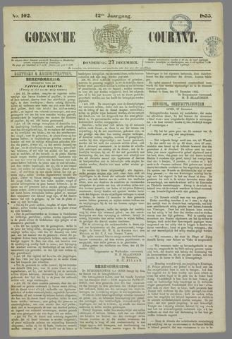 Goessche Courant 1855-12-27
