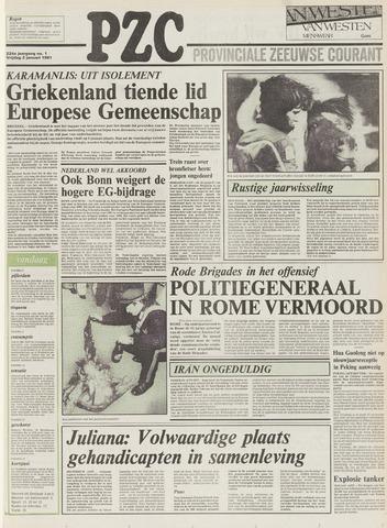 Provinciale Zeeuwse Courant 1981
