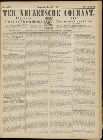 Ter Neuzensche Courant. Algemeen Nieuws- en Advertentieblad voor Zeeuwsch-Vlaanderen / Neuzensche Courant ... (idem) / (Algemeen) nieuws en advertentieblad voor Zeeuwsch-Vlaanderen 1910-07-14