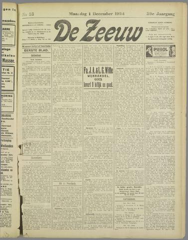 De Zeeuw. Christelijk-historisch nieuwsblad voor Zeeland 1924-12-01