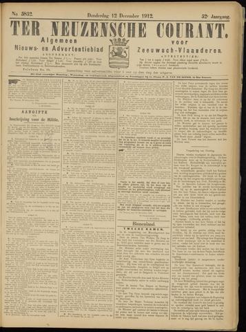 Ter Neuzensche Courant. Algemeen Nieuws- en Advertentieblad voor Zeeuwsch-Vlaanderen / Neuzensche Courant ... (idem) / (Algemeen) nieuws en advertentieblad voor Zeeuwsch-Vlaanderen 1912-12-12