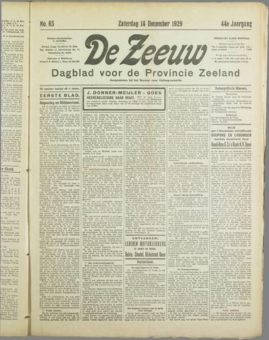 De Zeeuw. Christelijk-historisch nieuwsblad voor Zeeland 1929-12-14