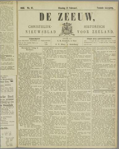 De Zeeuw. Christelijk-historisch nieuwsblad voor Zeeland 1888-02-21