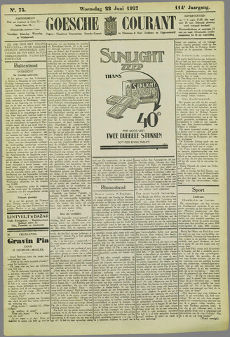 Goessche Courant 1927-06-22