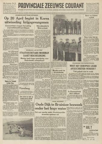 Provinciale Zeeuwse Courant 1953-04-13