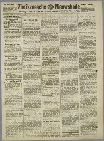 Zierikzeesche Nieuwsbode 1922-07-03