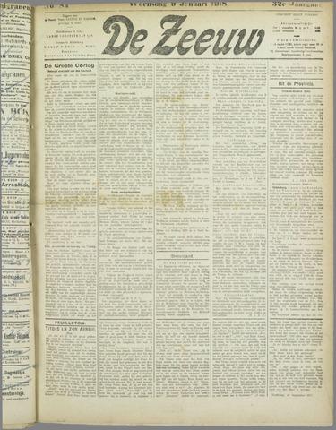 De Zeeuw. Christelijk-historisch nieuwsblad voor Zeeland 1918-01-09