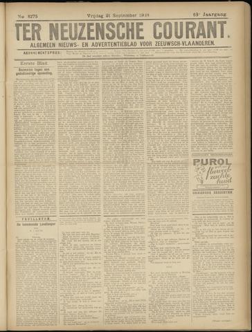 Ter Neuzensche Courant. Algemeen Nieuws- en Advertentieblad voor Zeeuwsch-Vlaanderen / Neuzensche Courant ... (idem) / (Algemeen) nieuws en advertentieblad voor Zeeuwsch-Vlaanderen 1928-09-21