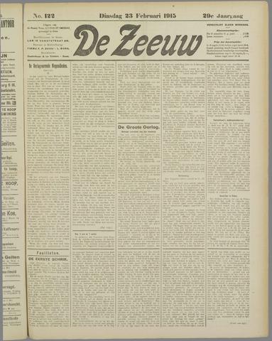 De Zeeuw. Christelijk-historisch nieuwsblad voor Zeeland 1915-02-23