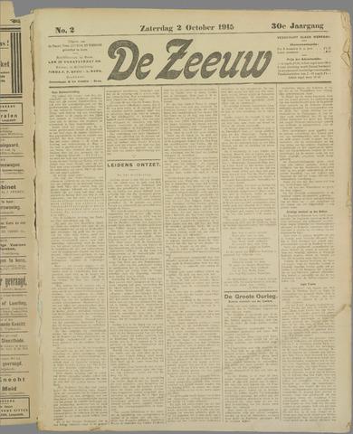 De Zeeuw. Christelijk-historisch nieuwsblad voor Zeeland 1915-10-02