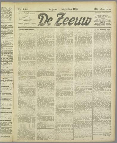De Zeeuw. Christelijk-historisch nieuwsblad voor Zeeland 1919-08-01