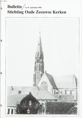 Bulletin Stichting Oude Zeeuwse kerken 1998-09-01