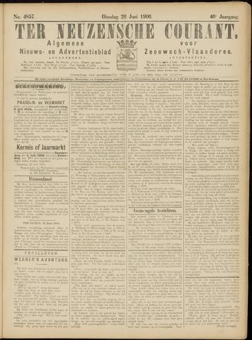 Ter Neuzensche Courant. Algemeen Nieuws- en Advertentieblad voor Zeeuwsch-Vlaanderen / Neuzensche Courant ... (idem) / (Algemeen) nieuws en advertentieblad voor Zeeuwsch-Vlaanderen 1906-06-26
