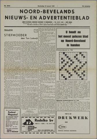 Noord-Bevelands Nieuws- en advertentieblad 1981-01-22