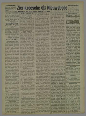 Zierikzeesche Nieuwsbode 1923-07-09