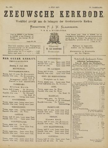 Zeeuwsche kerkbode, weekblad gewijd aan de belangen der gereformeerde kerken/ Zeeuwsch kerkblad 1891-07-04