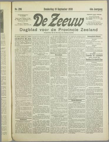 De Zeeuw. Christelijk-historisch nieuwsblad voor Zeeland 1930-09-18
