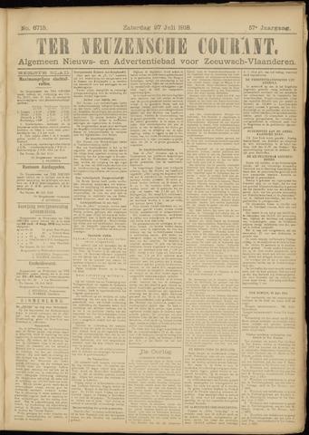Ter Neuzensche Courant. Algemeen Nieuws- en Advertentieblad voor Zeeuwsch-Vlaanderen / Neuzensche Courant ... (idem) / (Algemeen) nieuws en advertentieblad voor Zeeuwsch-Vlaanderen 1918-07-27