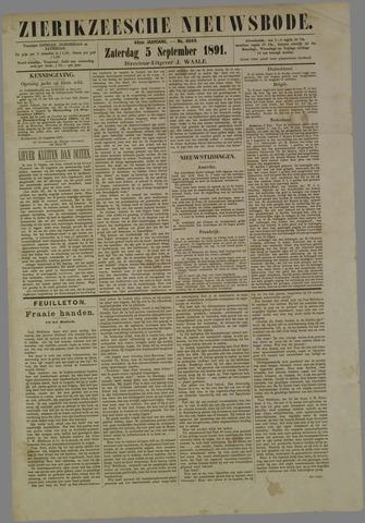 Zierikzeesche Nieuwsbode 1891-09-05