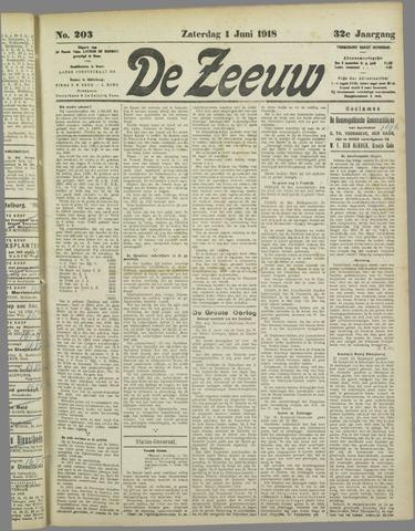De Zeeuw. Christelijk-historisch nieuwsblad voor Zeeland 1918-06-01
