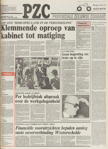 Provinciale Zeeuwse Courant 1980-09-17