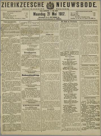 Zierikzeesche Nieuwsbode 1917-05-21