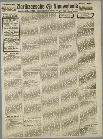 Zierikzeesche Nieuwsbode 1925-03-02