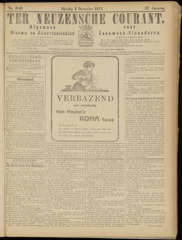Ter Neuzensche Courant. Algemeen Nieuws- en Advertentieblad voor Zeeuwsch-Vlaanderen / Neuzensche Courant ... (idem) / (Algemeen) nieuws en advertentieblad voor Zeeuwsch-Vlaanderen 1912-12-03