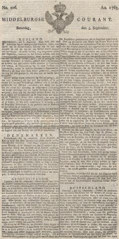 Middelburgsche Courant 1763-09-03