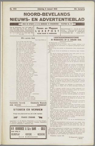 Noord-Bevelands Nieuws- en advertentieblad 1940-01-06