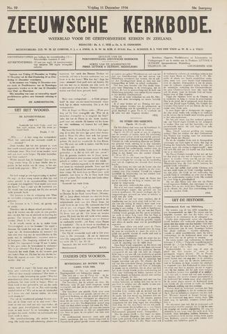 Zeeuwsche kerkbode, weekblad gewijd aan de belangen der gereformeerde kerken/ Zeeuwsch kerkblad 1936-12-11