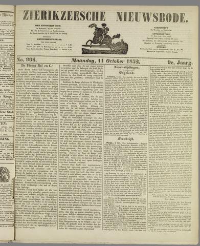 Zierikzeesche Nieuwsbode 1852-10-11