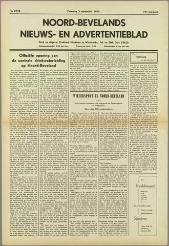 Noord-Bevelands Nieuws- en advertentieblad 1955-09-03