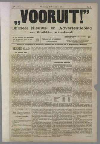 """""""Vooruit!""""Officieel Nieuws- en Advertentieblad voor Overflakkee en Goedereede 1911-11-22"""