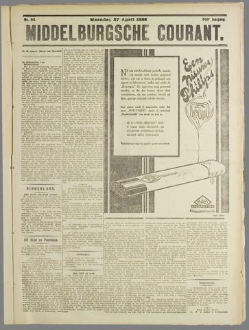 Middelburgsche Courant 1925-04-27