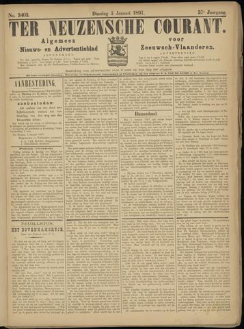 Ter Neuzensche Courant. Algemeen Nieuws- en Advertentieblad voor Zeeuwsch-Vlaanderen / Neuzensche Courant ... (idem) / (Algemeen) nieuws en advertentieblad voor Zeeuwsch-Vlaanderen 1897-01-05