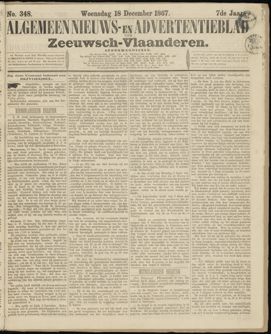 Ter Neuzensche Courant. Algemeen Nieuws- en Advertentieblad voor Zeeuwsch-Vlaanderen / Neuzensche Courant ... (idem) / (Algemeen) nieuws en advertentieblad voor Zeeuwsch-Vlaanderen 1867-12-18