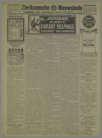 Zierikzeesche Nieuwsbode 1923-11-09